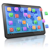 tablet met apps