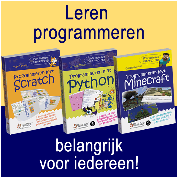 De Visual Steps-boeken over programmeren